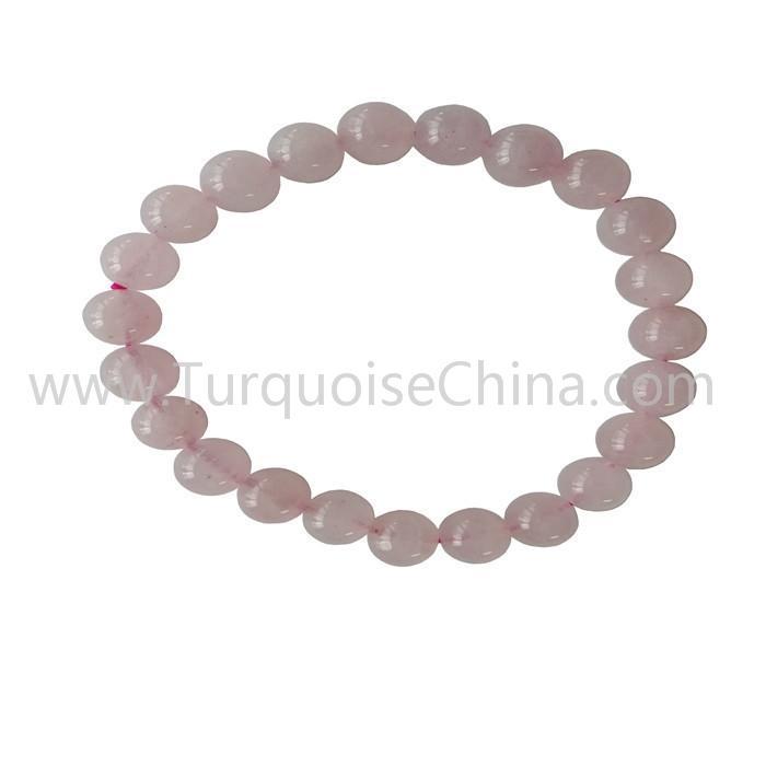 8mm Lovely Rose Quartz Round Beads Bracelets Gift For Girls