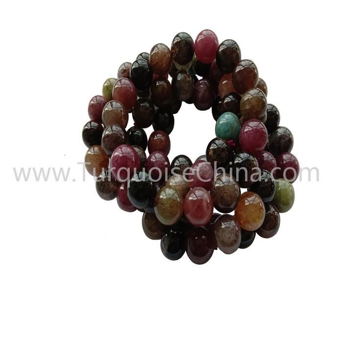 Genuine Colorful Tourmaline Round Beads Bracelets Gemstone Wholesale