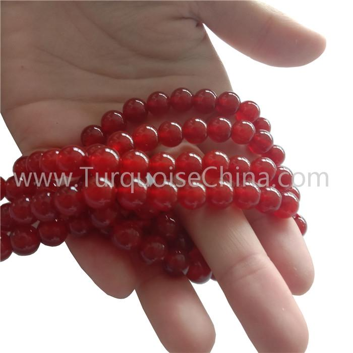 8mm Genuine Carnelian Round Beads Red Gemstone Wholesale