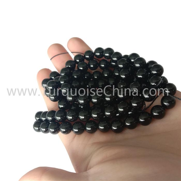 Hot-sale Black Tourmaline 8mm Round Beads Gemstone Wholesale