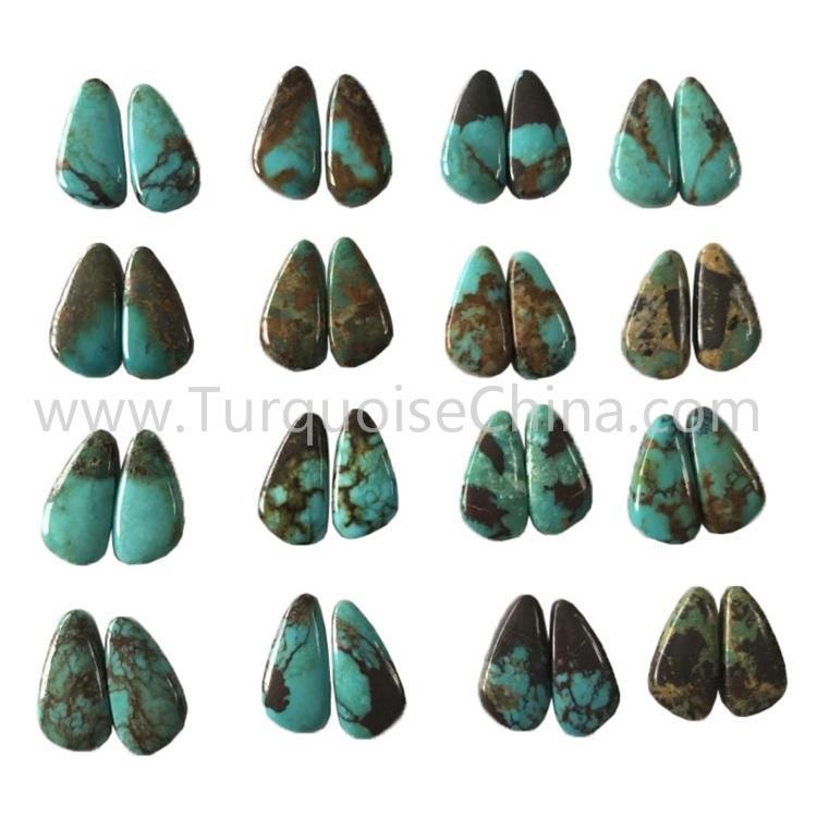 19.4x9.8mm natural turquoise smooth polishing gemstone retail