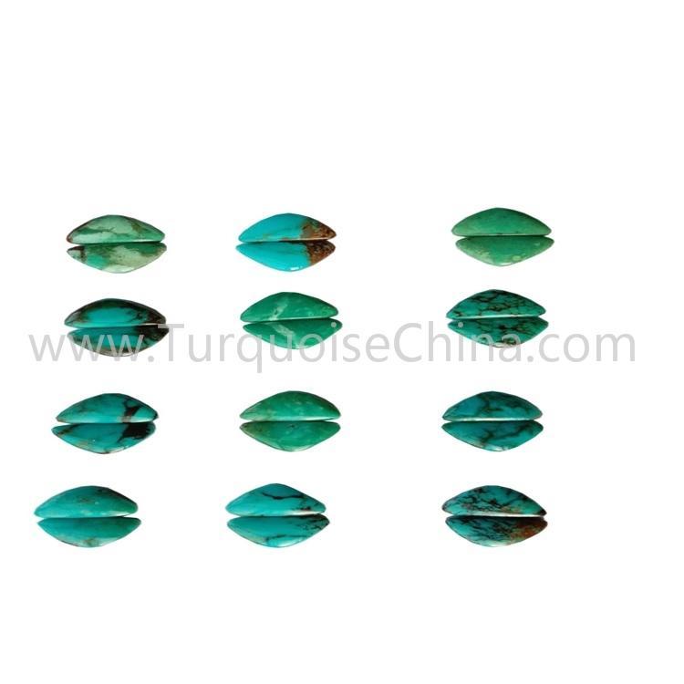 15.7x9.6mm natural turquoise smooth polishing triangle gemstone wholesale