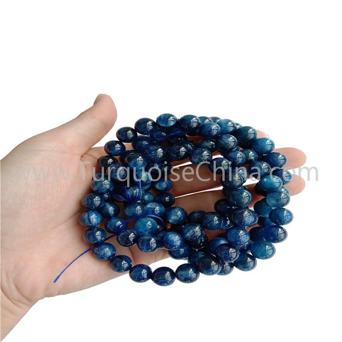 Man And Woman Gift 10mm Kyanite Round Beads Bracelets
