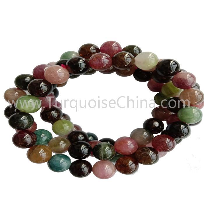 10mm Colorful Tourmaline Round Beads Bracelets Gift Gemstone Wholesale