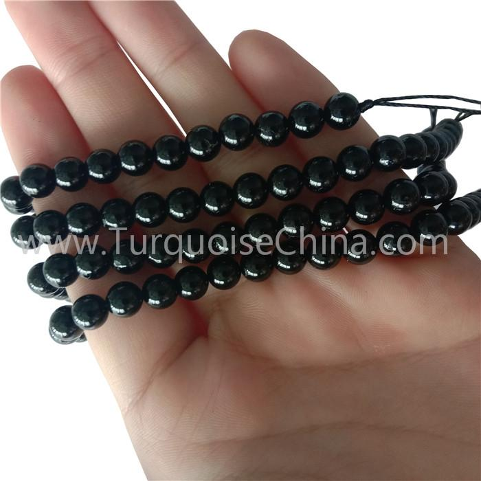 New Black Tourmaline Round Beads Natural Gemstone Wholesale