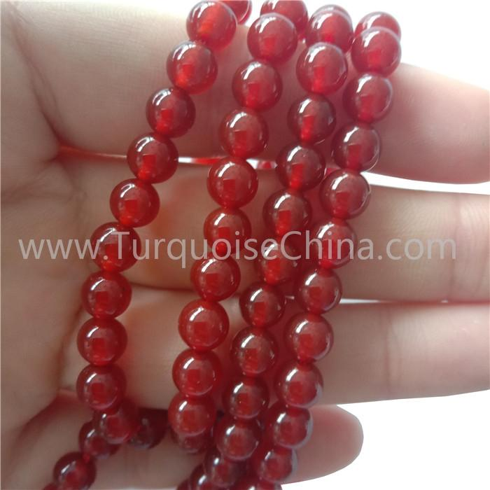 Genuine Red Carnelian Smooth Round Beads Gemstone Strings