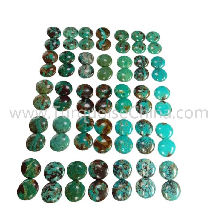 26.4x35x3.8mm Natural Turquoise Smooth Oval Cabochon Wholesale