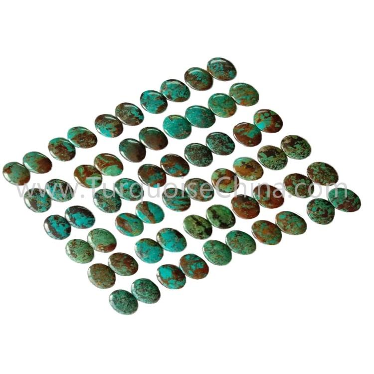 20.3x27x3.8mm Genuinte Turquoise Left And Right Match Pairs Smooth Oval Cabochon