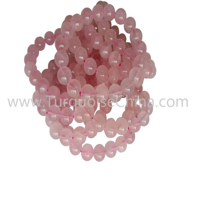 10mm Natural Rose Qurtz Round Beads Bracelets Wholesale