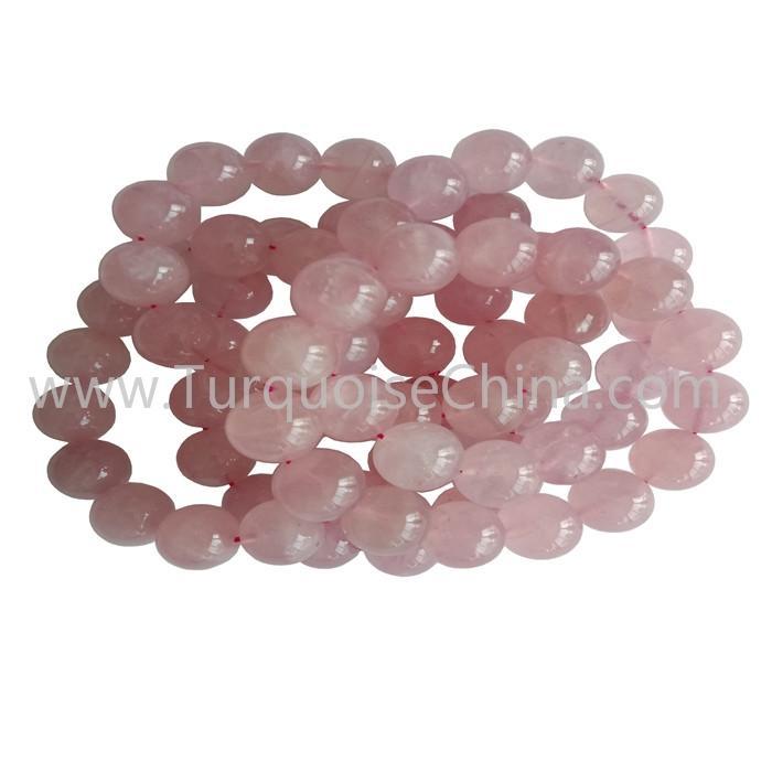 14mm Genuine Rose Qurtz Round Beads Bracelets Wholesale