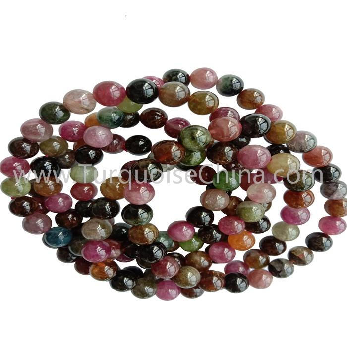 8mm Colorful Tourmaline Round Beads Bracelets Gemstone Wholesale