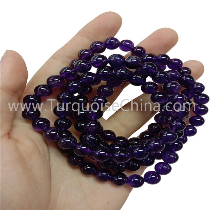 Grade A Amethyst Round Beads Bracelets Natural Gemstone Wholesale