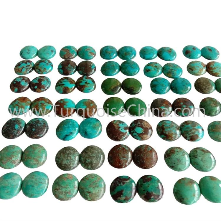 12x16x3.8mm Genuine Turquoise Oval Cabochon  Pairs Wholesale