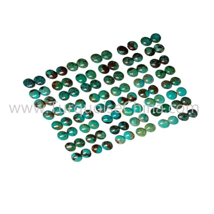10x12x3.8mm Hot-sale Turquoise Oval Cabochon Pairs For Jewelry