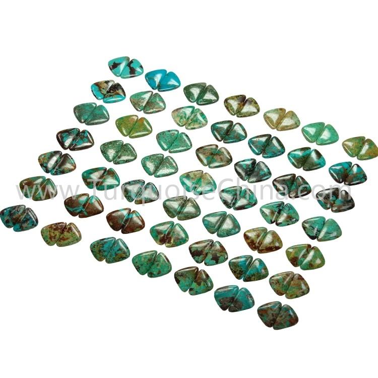 29.4x18x3.8mm Hot-sale Turquoise Triangle Cabochon Pairs Wholesale