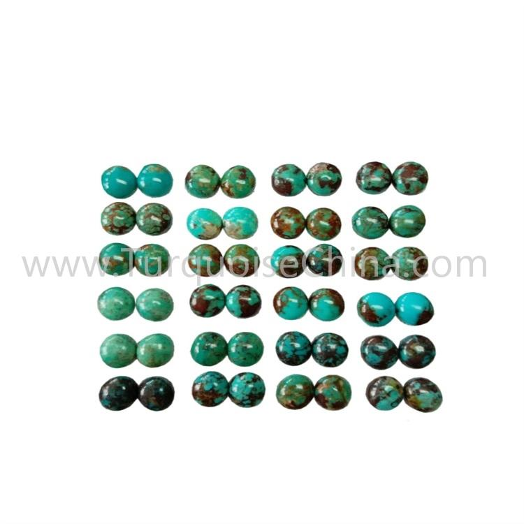 10x8x3.8mm New Turquoise Oval CabochonPairs For Jewelry