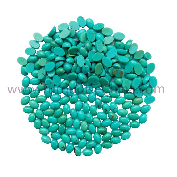 6x4x3mm Natural Turquoise Oval Cabochon Gemstone Jewelry