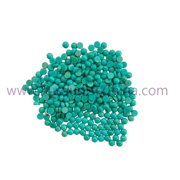 Genuine Turquoise 4x2mm Round Cabochon Gemstone