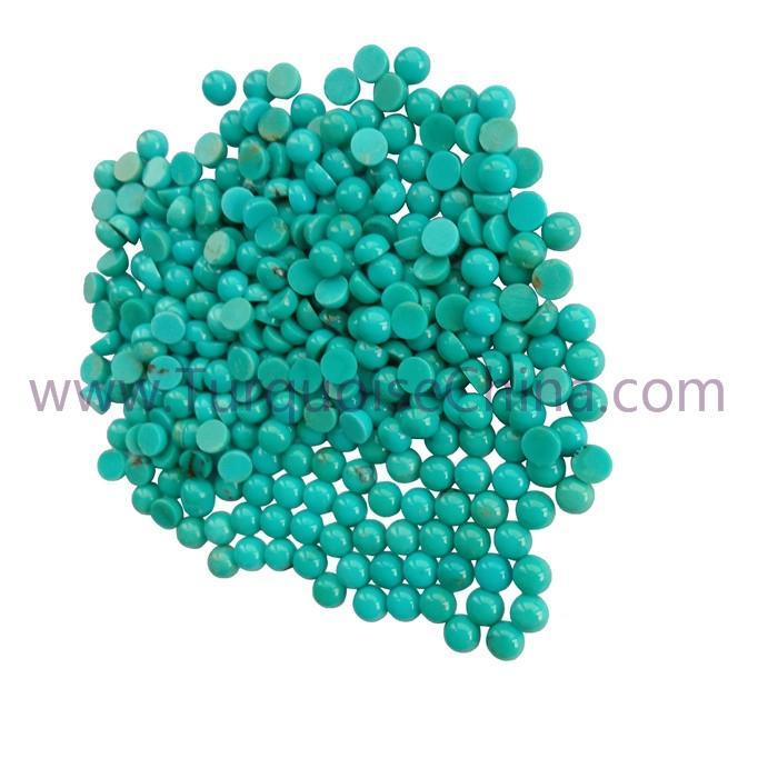 Genuine Turquoise 4x2mm Round Cabochon Gemstone