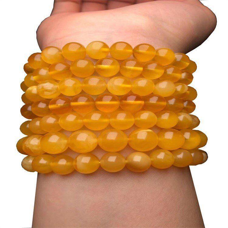 Natural Yellow Beeswax Bracelet Amber beeswax Bracelets for Women men Best Friend
