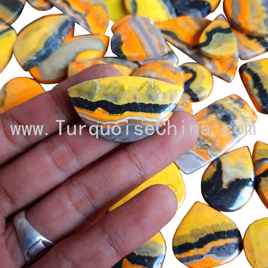 Wholesale Natural Crazy agate Cabochon Left And Right Match pairs Smooth gemstone