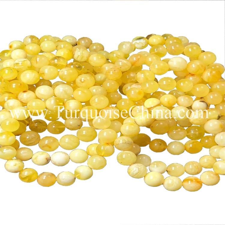Natur Yellow Amber Gemstone Round Beads Bracelet
