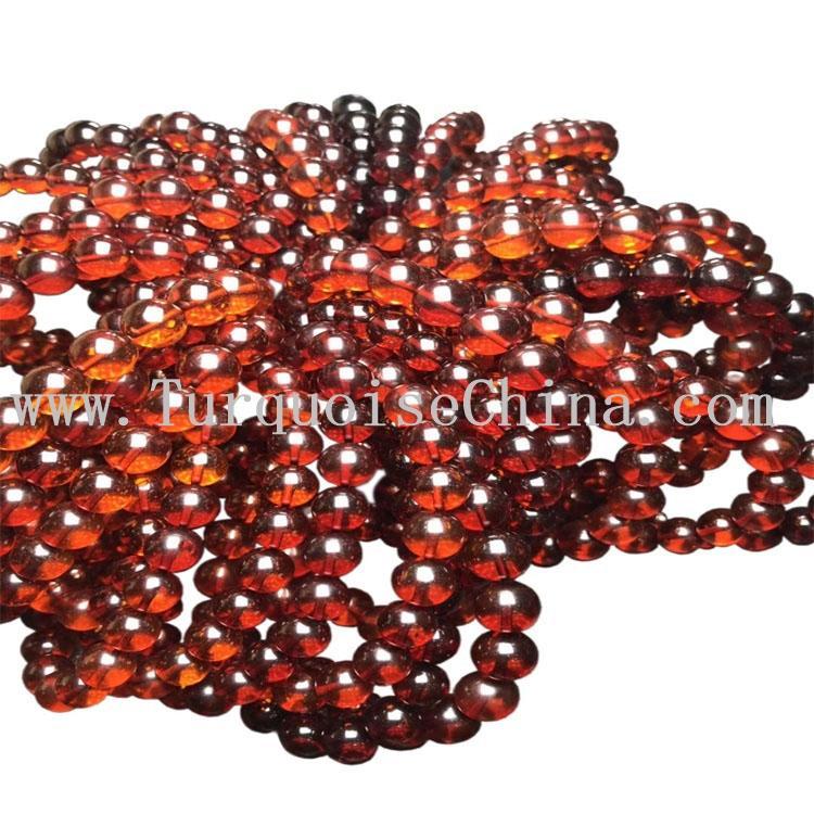 9mm Round Natural Beads Wine Red Blood Amber Gemstone Strand