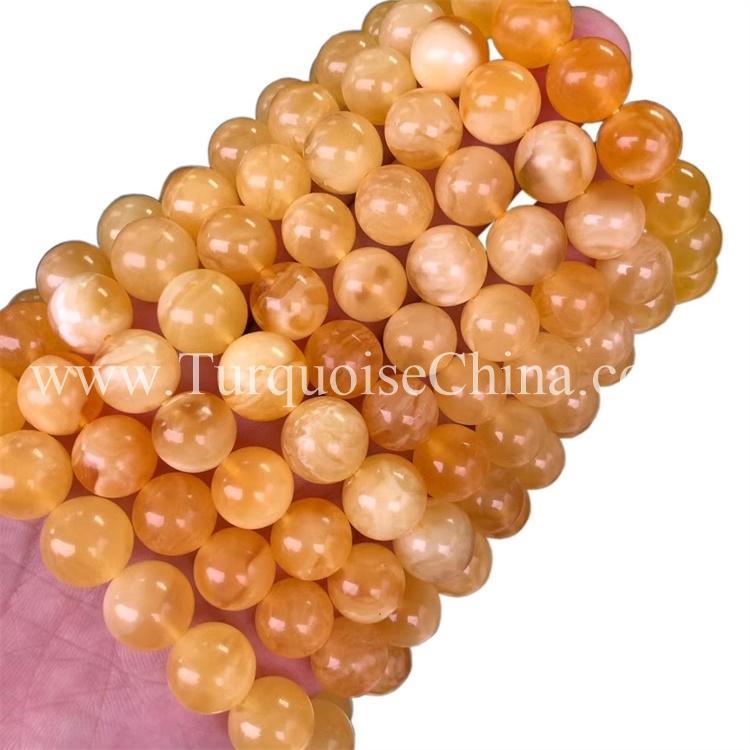 Slinky Yellow Amber Gemstone Circular Bracelet