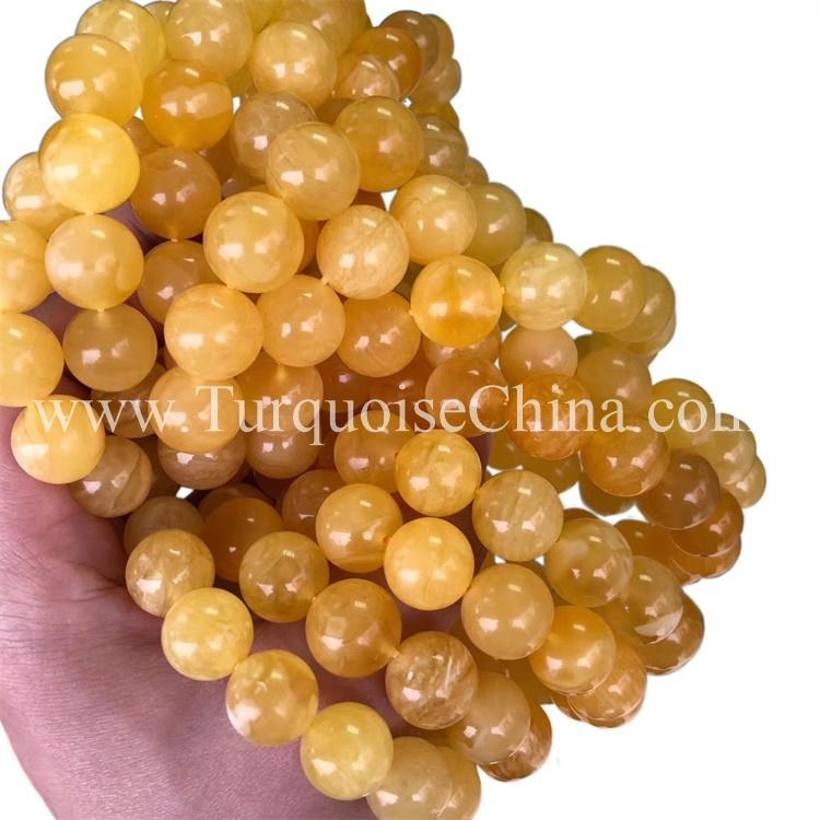 Elegant Natural Baltic  Round Amber Bracelet