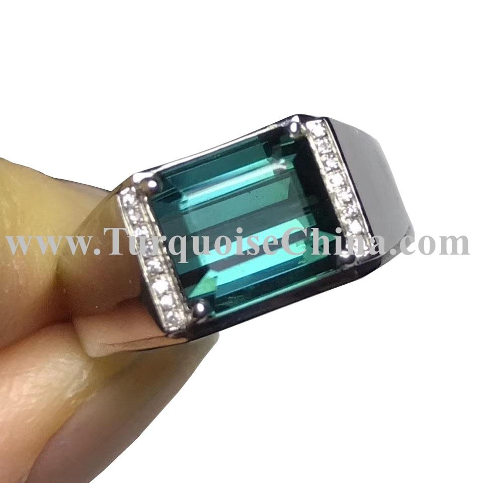 Blue Topaz Gemstone ring in 925 Sterling Silver Diamond Ring Fashion Unique Jewelry