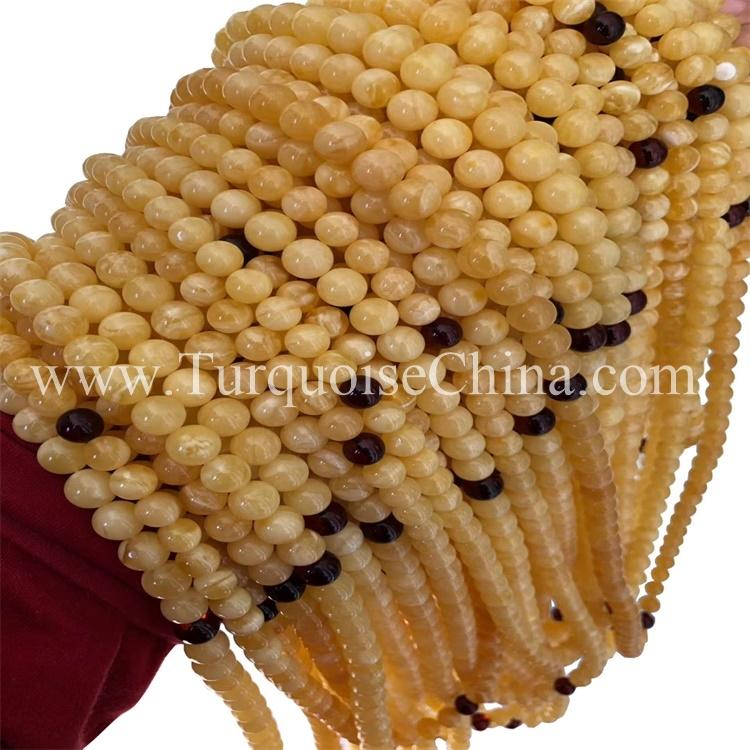 Natural Real Ball Amber Beads Handsome Strands With Certification