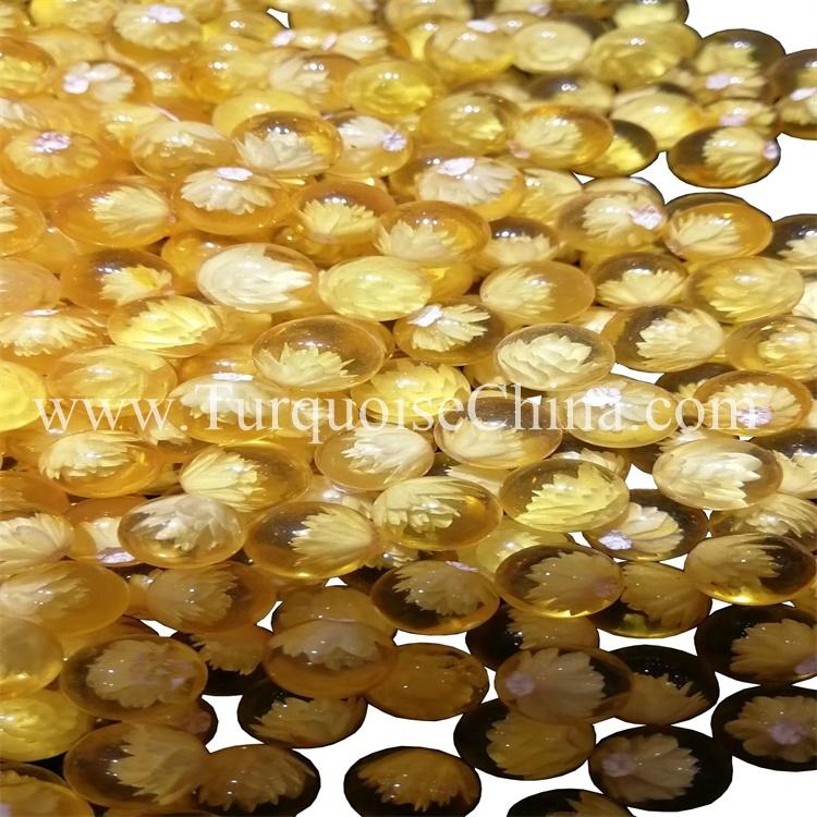 Beautiful Crystal Perfectly Amber Round Pearls
