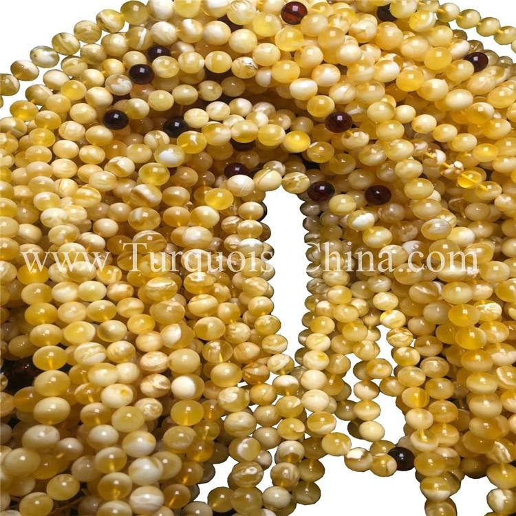 9mm Amber Conglobate Beads Adorable Strands