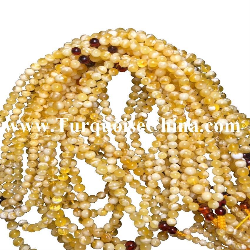 8mm Natural Amber High Class Round Amber Beads