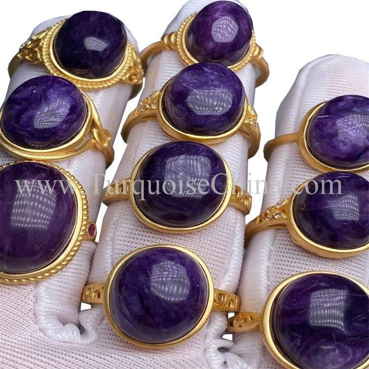 Hot-sale Charoite Cabochon Natural Gemstone Wholesale