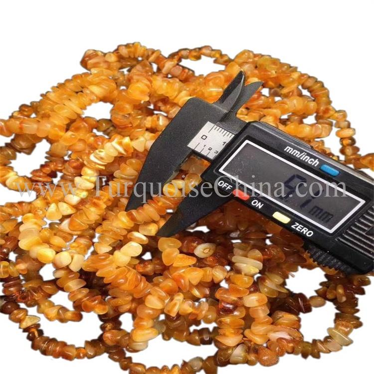 Grade A Dazzling Yellow Gemstone Amber Irregular Shape Beads Bracelets Wholesale