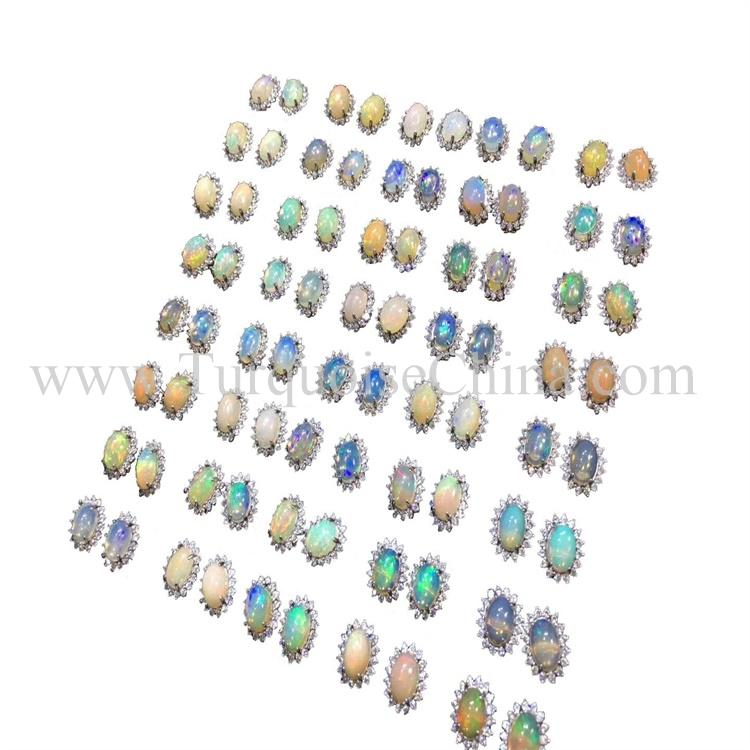 Popular Technicolored Tourmalie Earrings For Human's Love