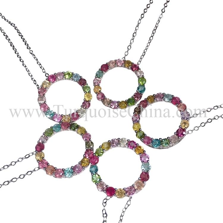 Genuine Superb Tourmaline Necklace Round Gemstone Wholesale