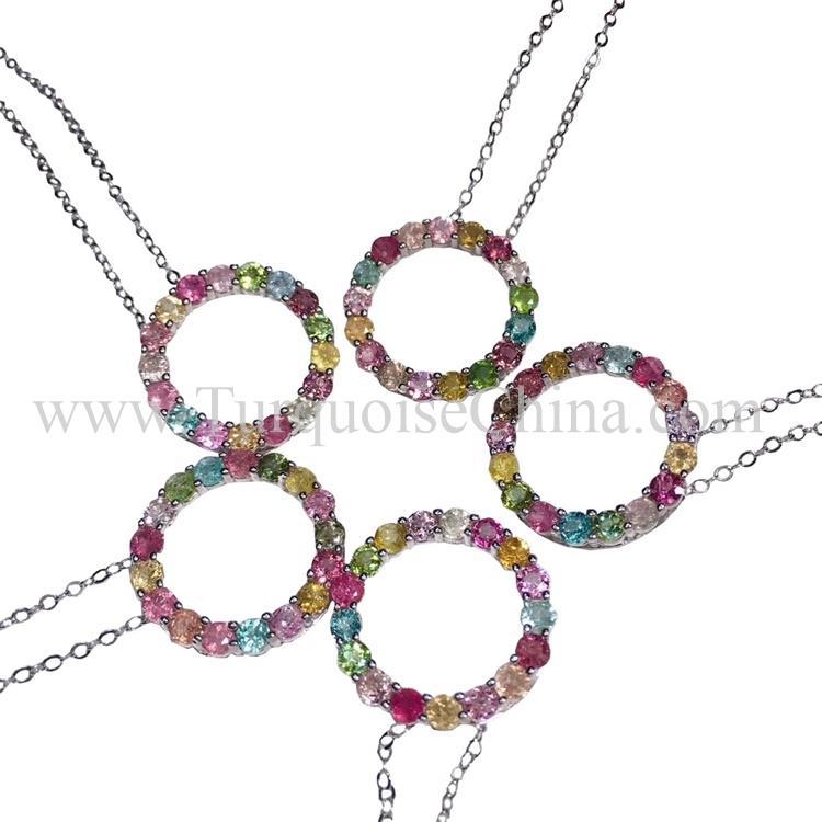 Genuine Superb Tourmaline Necklace Round Gemstone Wholesale