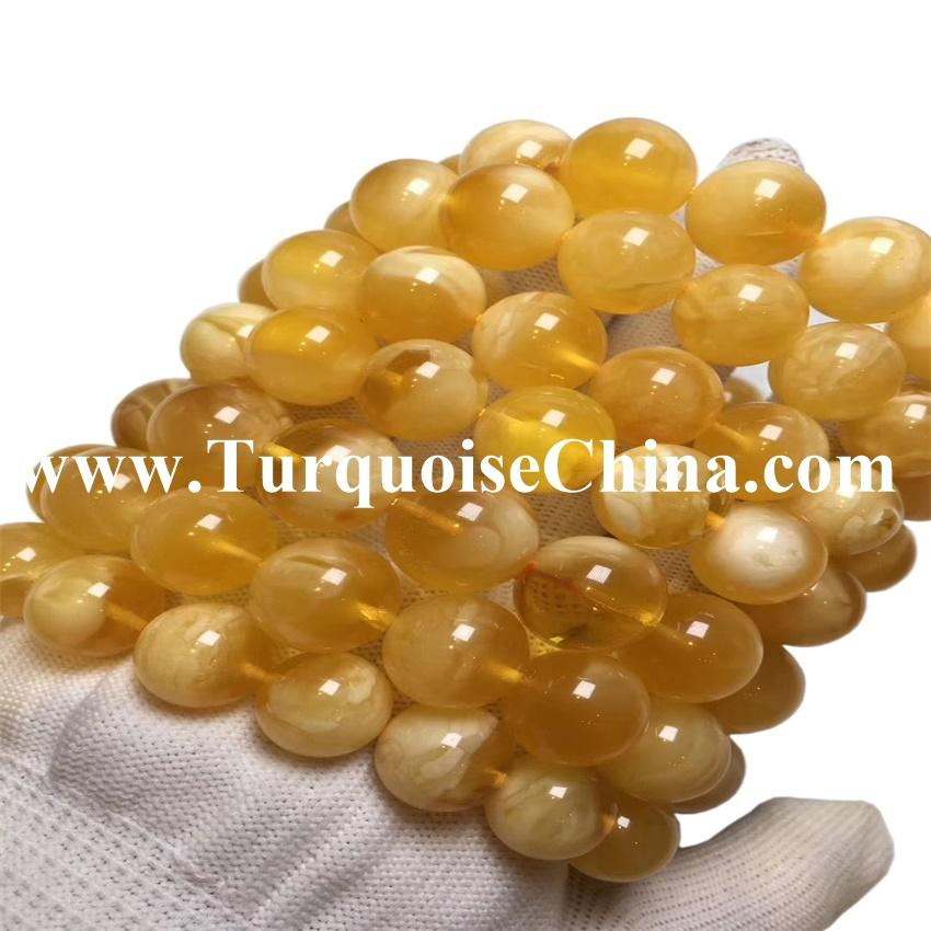 Genuine Baltic Amber Bracelet - Beads Knotted