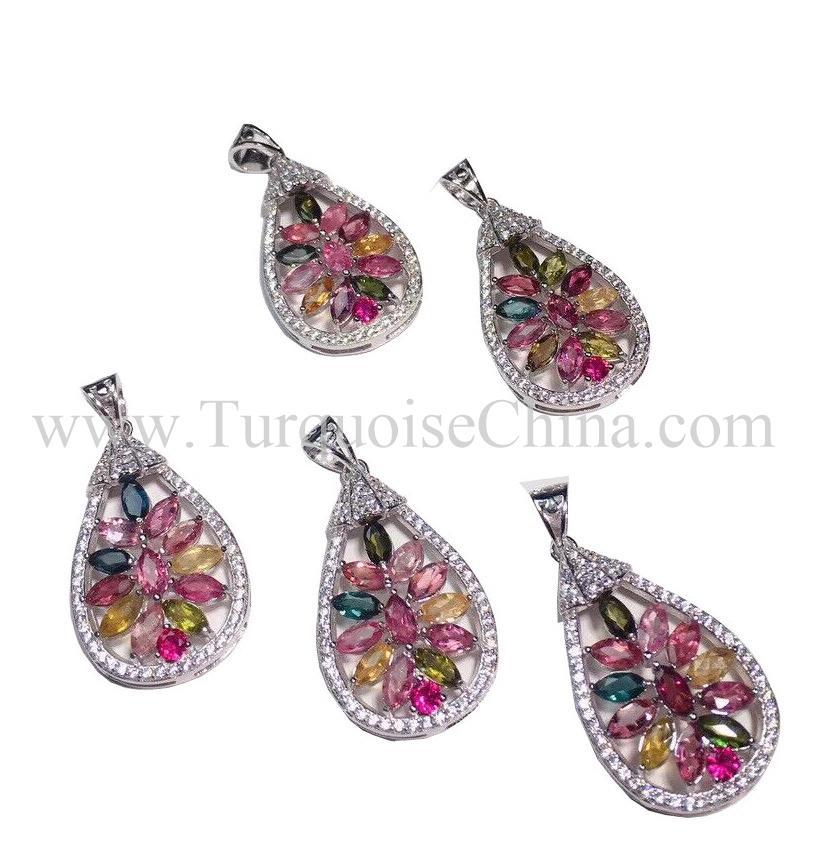Atistic Classical Tourmaline Water Drop Shape Gemstone For Making Jewelry