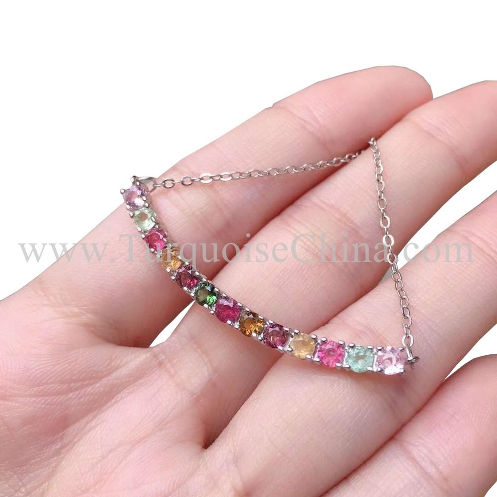 Natural Spectacular Pendant Diamondoid Tourmaline Necklace Gift For Girlfriends