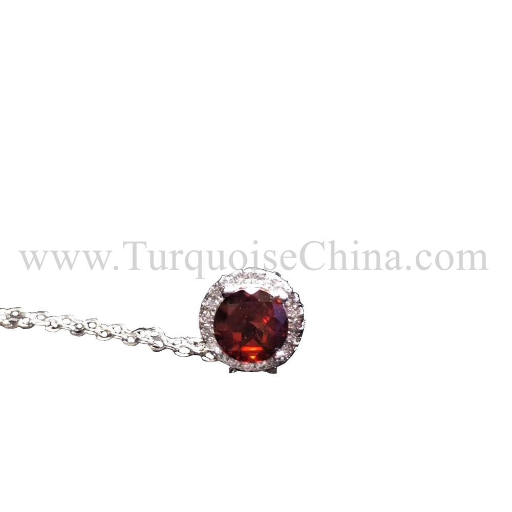 Colorful Gorgeous Tourmaline Necklace Cabochon Gemstone For Female Mates