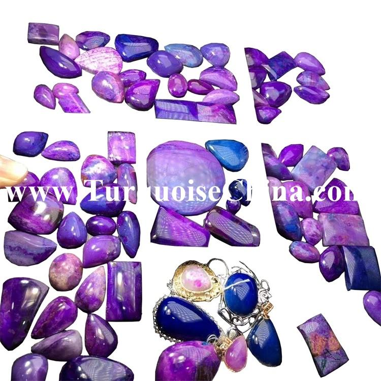 Wholesale Sugilite Small Tumble Stone Slices Cabochons For Making Jewelry