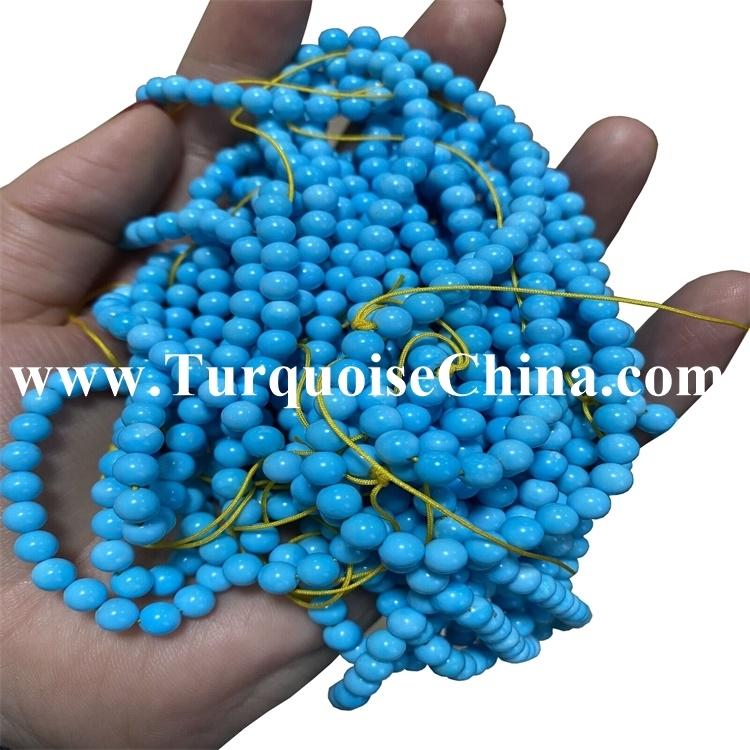 Magnesite Round Beads Turquoise Gemstones Jewellery Making Crafts
