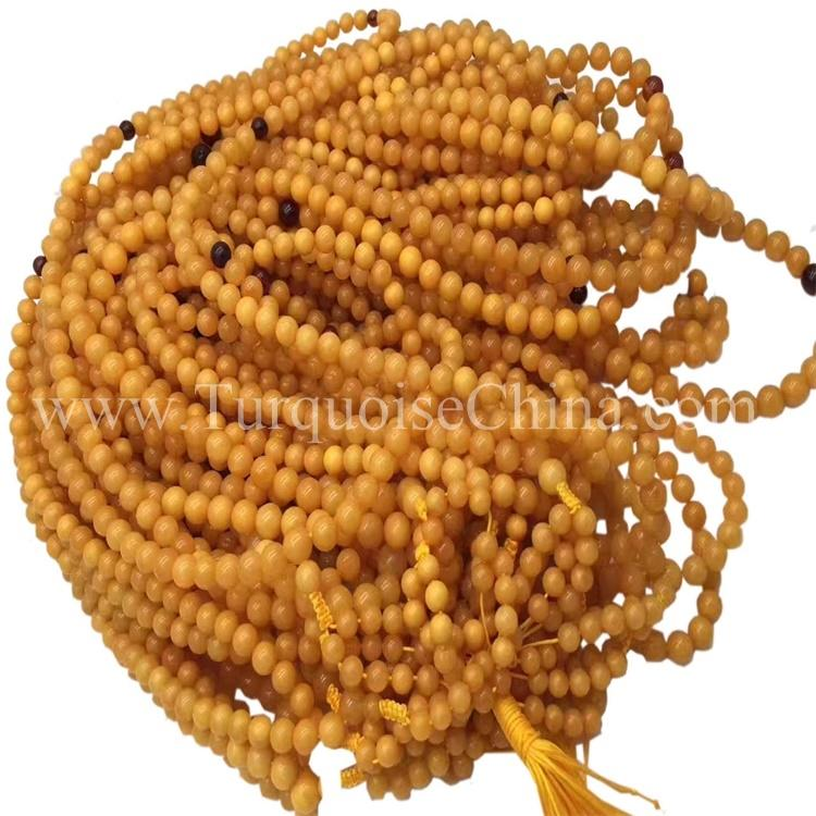 Lovely Natural Amber Beads Ball Gemstone For Wholesale