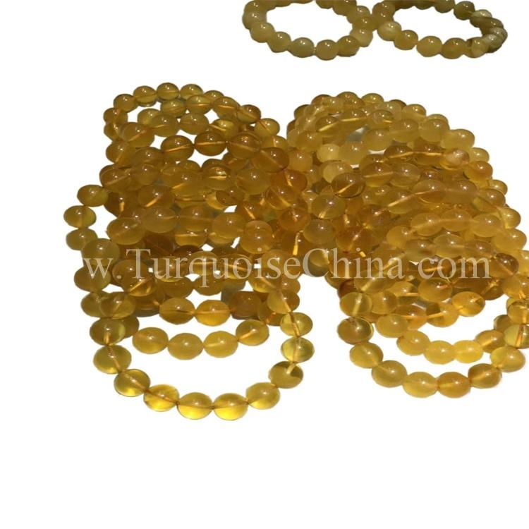 Dainty Beeswax Amber Beads Bracelet Genuine Sphere Gemstone Friend Bracelets