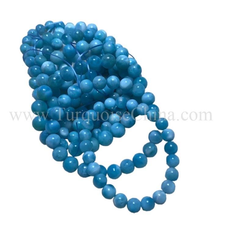 Natural Blue Larimar Beautiful Round Gemstone Fashion Gift