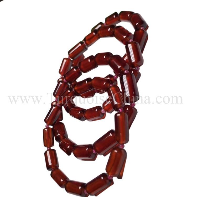 Genuine Natural Wine Red Garnet Candle Beads Fashion Women Bracelet
