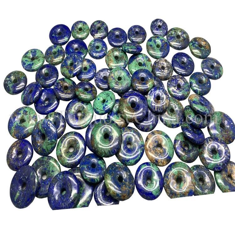 Natural Vintage Lazurite Fychenite Blue Copper Coin High Quality Gemstone For Exquisite Design